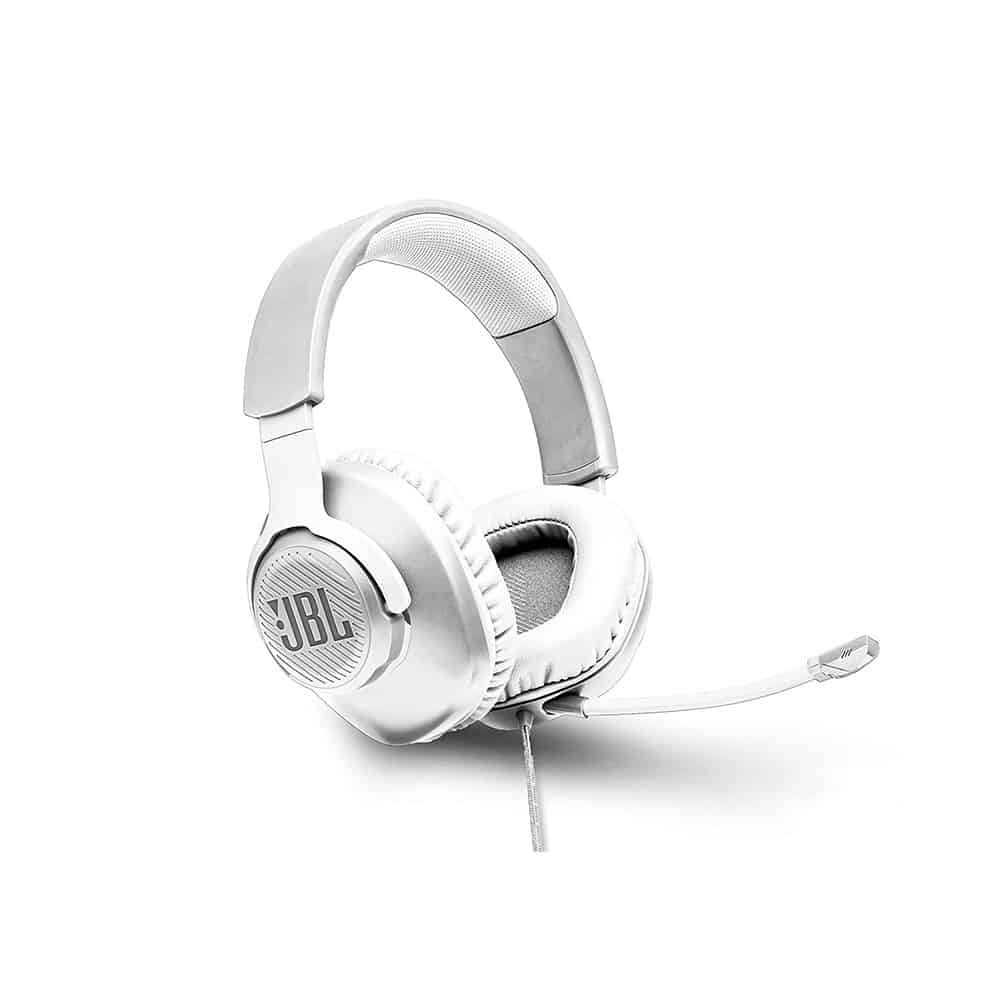 אוזניות גיימינג JBL QUANTUM 100 לבן