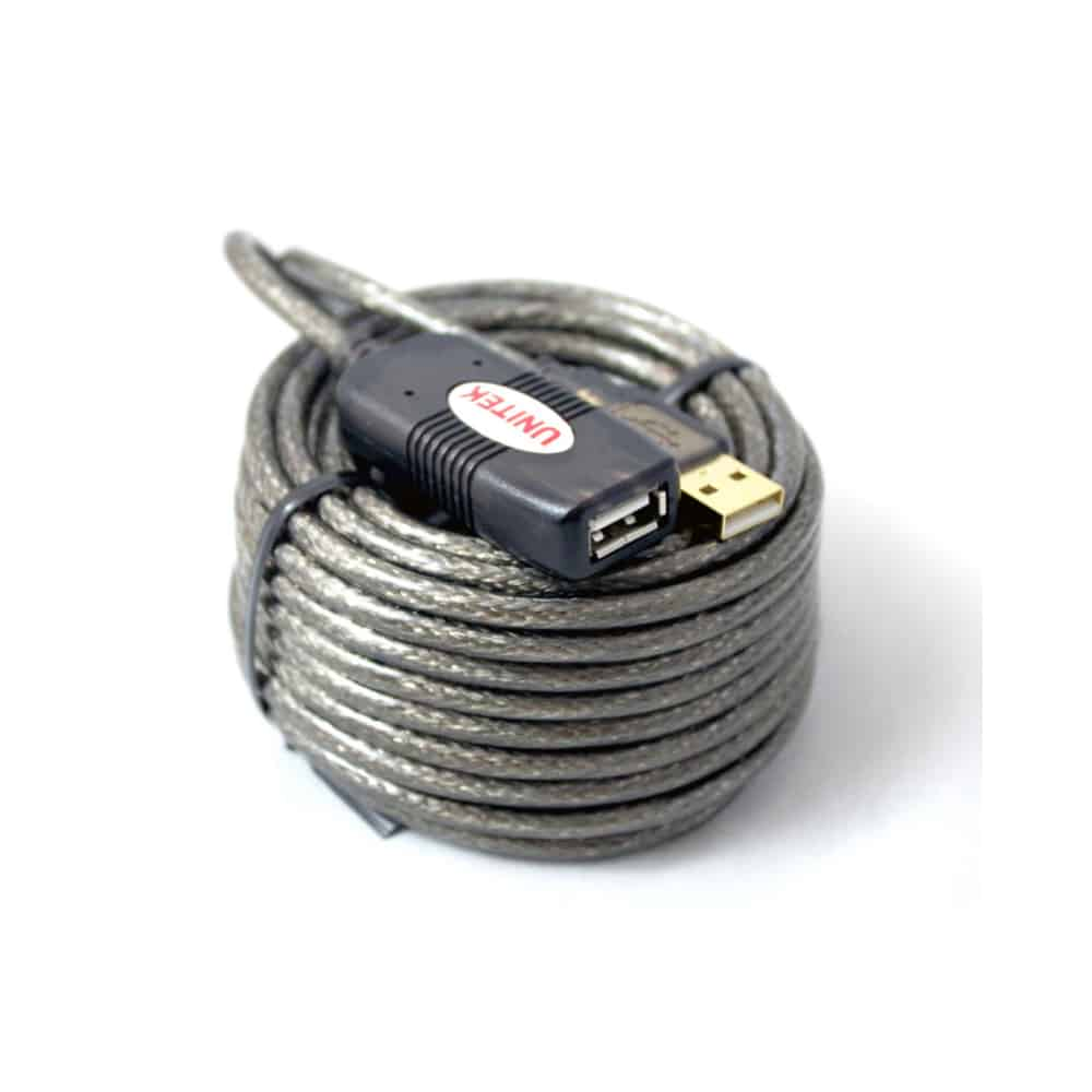 כבל מאריך USB2 +מגבר 10M AF W/IC